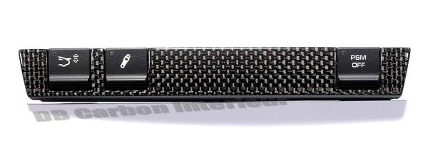 db carbon schalterleiste 3 schalter version f r porsche 997 carrera. Black Bedroom Furniture Sets. Home Design Ideas