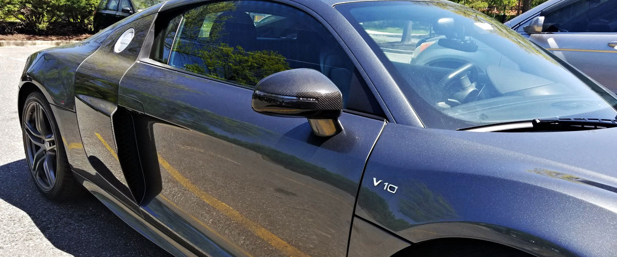 Audi R8 42 carbon side mirrors real carbon sideblade exterior carbon parts mirror housing