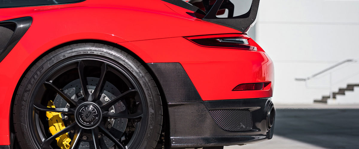 Porsche 991 991.2 GT2 RS Carbon diffusor spoiler blade wing air intake duct vent trim Weissach exterior carbon parts