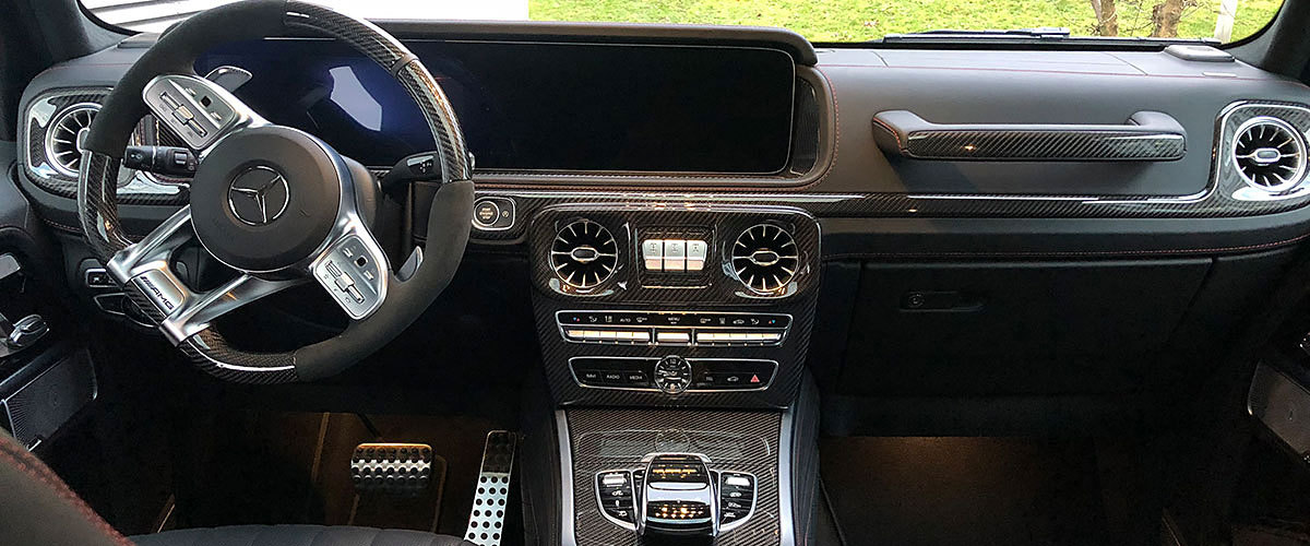 Mercedes Benz G G63 AMG W463 Carbon trim lining dash cover panel interior center console carbon parts
