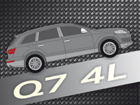 Audi Q7 4L Echt Carbon Interieur and Exterieur Teile